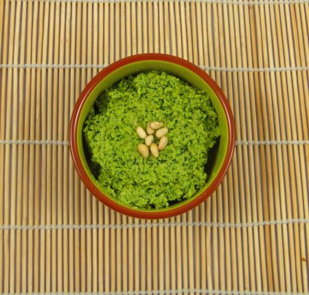 Coriander and coconut pesto